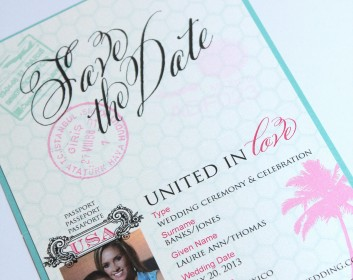 Idea of the Day: Passport-Style Save the Dates {Tampa, Florida ...