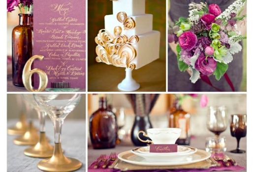 Wedding Style: Modern New Years Eve Wedding Palette - Italian Plum & Gold {Wedding Planners Tampa}