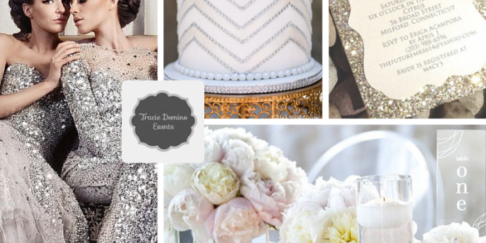Wedding Style Inspiration: Silver Glitter {Wedding Planner Tampa}
