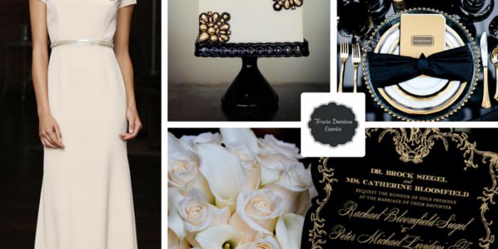 Wedding Style Inspiration: Black & Gold Black Tie Wedding