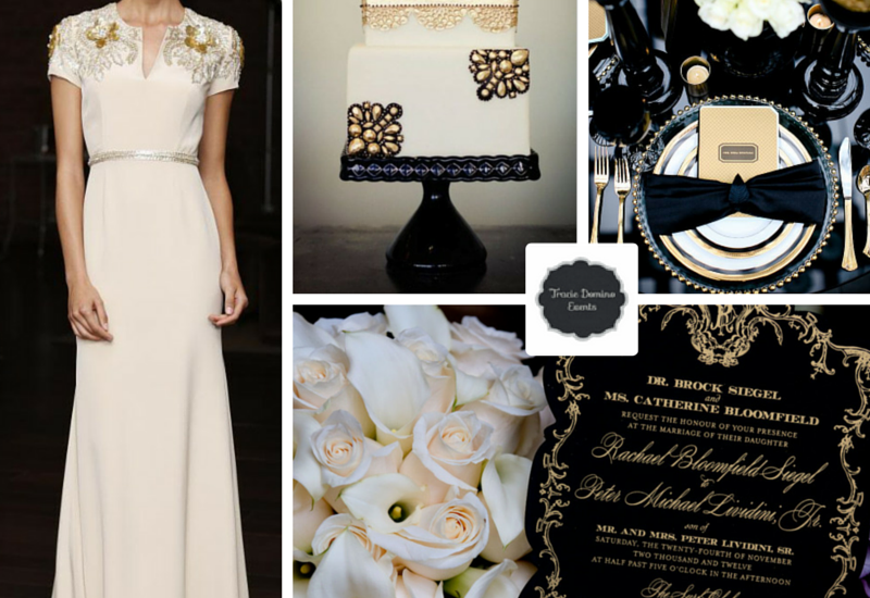 Wedding Style Inspiration Black Gold Tie Tracie Domino Events Party Planners Tampa Fl Park City Ut