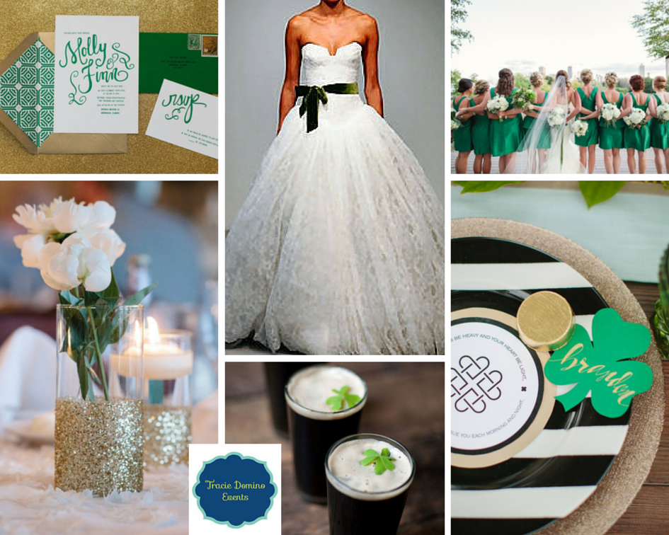 Wedding Style Inspiration: St. Patrick\'s Day Wedding | Tracie ...