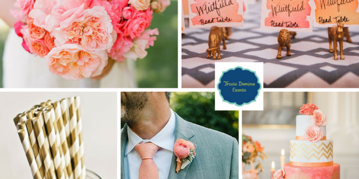 Wedding Style Inspiration: Coral + Gold
