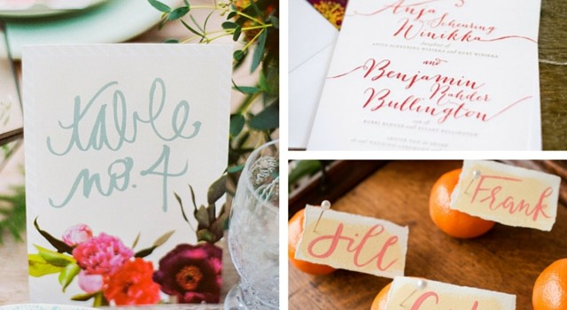 Idea of the Day: 6 Ways To Incorporate Calligraphy Into Your Big Day