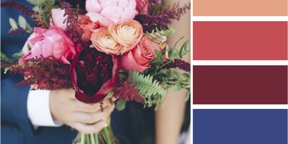 Navy And Coral Wedding.Wedding Style Inspiration Marsala Navy Coral Fall Wedding