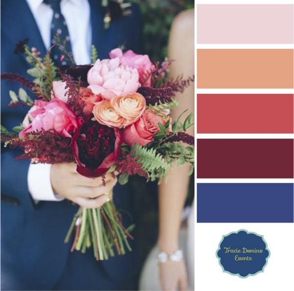 wedding style inspiration marsala navy coral fall