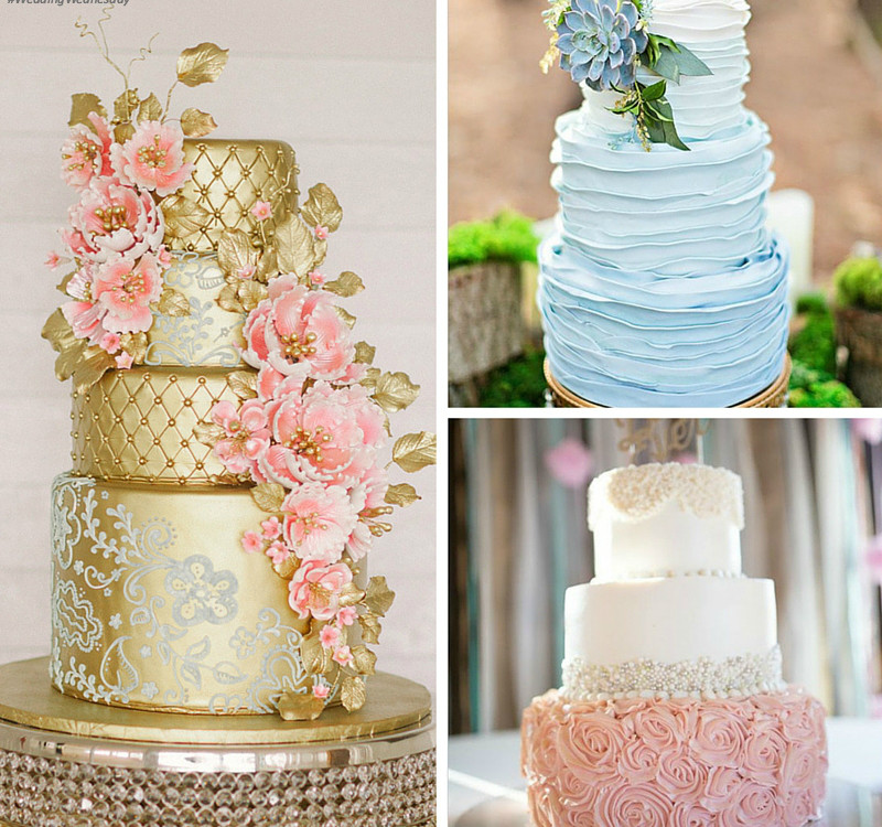Trend Alert: Textured + Metallic Wedding Cakes