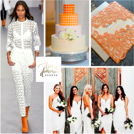 Runway Inspired: White and Orange