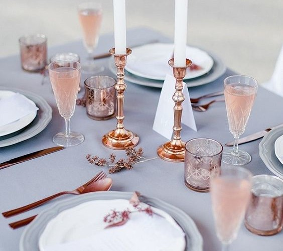 Trend Alert: Spring Wedding with Pantone 2016 Colors of the Year Rose Quartz + Serenity