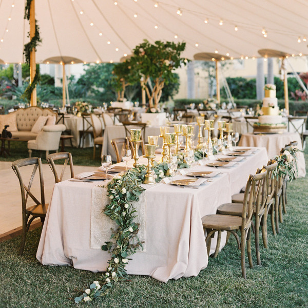 Romantic Tent Wedding At Private Waterfront Estate In Tampa Bay