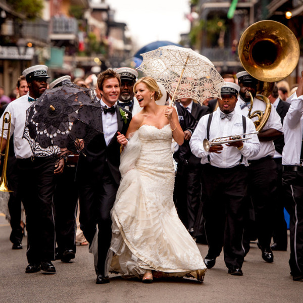 Classic + Fun New Orleans Wedding with Second Line Parade